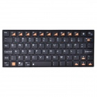 BYLINK Kb07 Mini Portable Bluetooth V3.0 74-Key Keyboard for Smart Phone / Tablet PC -Black (2 x AA)