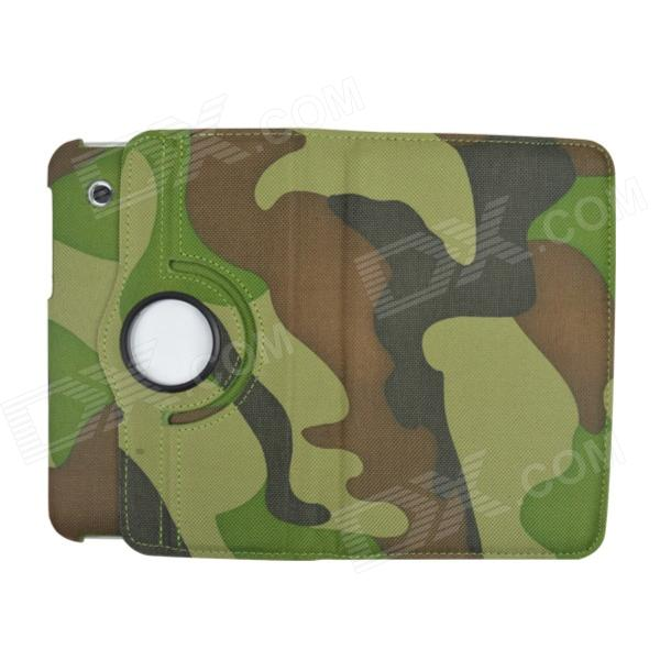 Фото 360 Degree Rotation PU Leather Case Cover Stand for Samsung Galaxy Tab 2 7.0 P3100 -Camouflage Green 100pcs lot 360 degree rotating litchi folio stand pu leather skin case cover for samsung galaxy tab s3 9 7t825 t820 fundas case