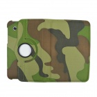 360 Degree Rotation PU Leather Case Cover Stand for Samsung Galaxy Tab 2 7.0 P3100 -Camouflage Green