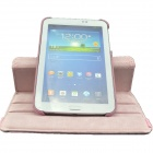 360 Degree Rotation Protective PU Leather Case Stand for Samsung Galaxy Tab 3 7.0 P3200 / T210 -Pink