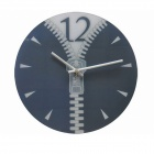 TM12022 DIY Fashionable Simple Mute Zipper Wall Clock - Grey (1 x AA)