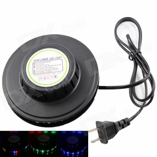 8W 6000mcd 48-LED RGB Sunflower Light - Black (AC 90~240V / US Plug / 105cm-cable)