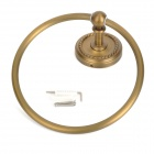PHASAT 8009 Retro Style Copper Towel Hanging Ring - Antique Brass