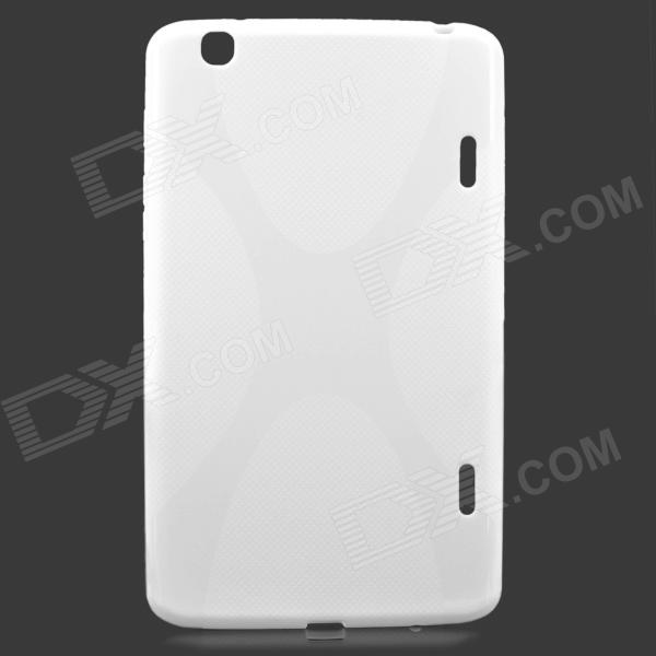 X Style Protective TPU Back Case for LG G Pad 8.3 V500 - White yi yi protective tpu back case cover w screen protector for lg g pad v500 purple