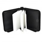 Portable 52-CD Zipper Bag - Carbon Black