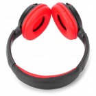 B380 1.4'' LCD Stereo Bluetooth V3.0 Headphone w/ Microphone / TF / FM - Black + Red