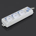 CZ-02 Three-phase Plug Seat Electrical Baby Security Socket Cover - White (6 PCS)