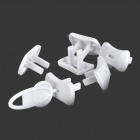 CZ-01 Kids' Safty Electric Shock Proof 2-pole Dielectric Socket Plug - White (7 PCS)
