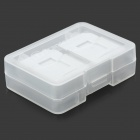8-Compartment TF/MicroSD Plastic Storage Box - Transparent Grey + White