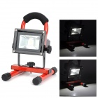 10W 400lm 6500K LED Neutral White Flood Light - Black + Red (2-Flat-Pin Plug)
