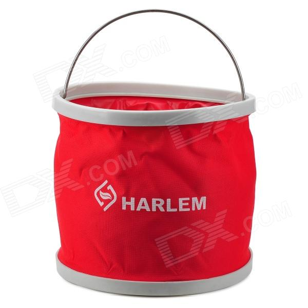 HARLEM HL802 Multifuction Foldable Portable Thicken Car Bucket (9L) harlem hl 956 convenient folding outdoor pvc pail bucket translucent white green 10l