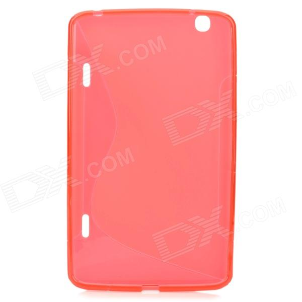 S Style Protective TPU Back Case for LG G Pad 8.3 V500 - Red yi yi protective tpu back case cover w screen protector for lg g pad v500 purple