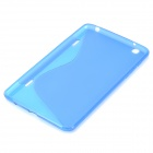 """S"" Style Protective TPU Back Case for LG G Pad 8.3 V500 - Blue"