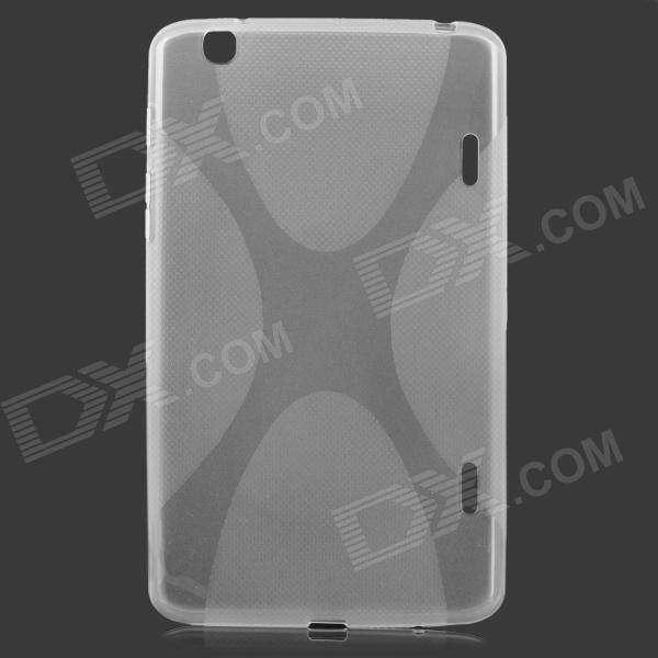 """X"" Style Protective TPU Back Case for LG G Pad 8.3 V500 - Translucent White"
