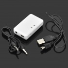 Wireless Bluetooth Stereo Audio Receiver w/ 3.5mm Port - White