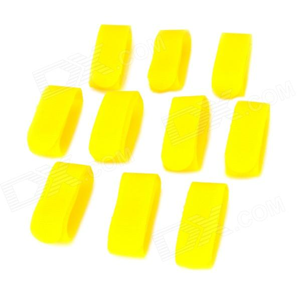 Universal Nylon Velcro Band Cable Ties - Yellow (10 PCS)