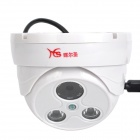 "Huiersheng HES-4500/313A 1/3"" 1.3MP Wired Network IP Camera w/ 2-LED Night Vision - White"