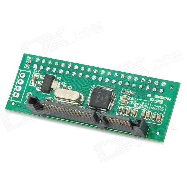 IDE to SATA 2.0 Board Parallel Port to Serial Port Card - Black + Green