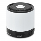 KUBEI 288B Mini Portable Bluetooth V3.0 Bass Speaker w/ FM / TF for iPhone - White