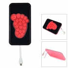 Universal 5V 5200mAh Li-ion Polymer Battery Power Bank w/ Stand for Android Phones - Pink + Black