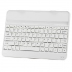 Stylish Aluminum Alloy Bluetooth V3.0 82-Key Keyboard for Samsung Galaxy Note 10.1 P600 2014 - White