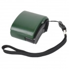 USB Hand Generator Charger  w/ Charging Cable + Adapters - Green + Black