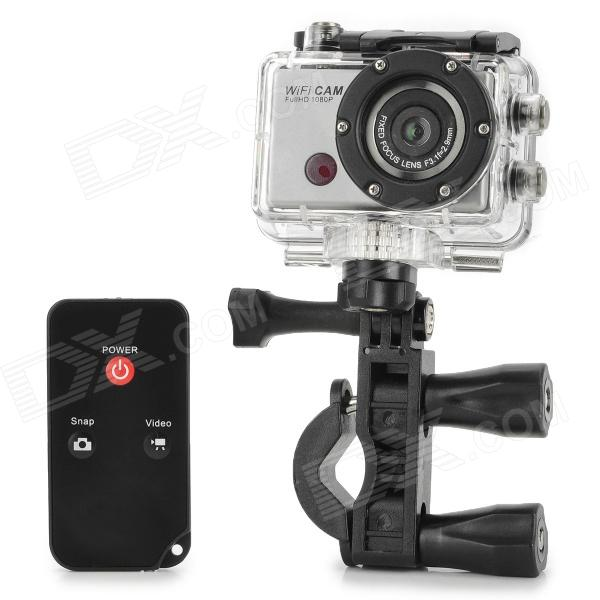 F21 Full HD 1080P Wi-Fi Sports 5.0MP Mini Camera w/ Waterproof Casing / IR Remote Controller (5V) real time 1ch mini hd xbox dvr pcb board up d1 30fps support 32gb sd card security digital for model aircraft video recorder