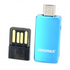 KINGMAX KOTGR-01 OTG TF Card Reader w/ USB Adapter for Cellphones / Tablets - Light Blue + Black
