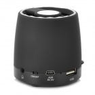Mini 3.5mm USB 2.0 Speaker w/ Mini USB / TF / Radio - Black