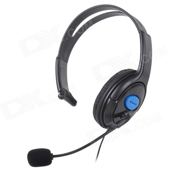 Gaming Headset Headphones w/ Microphone / Voice Control for PS4 - Black + Blue (3.5mm Plug / 110cm) jxd 509w wifi fpv rc quadcopter rtf 2 4ghz with camera headless mode one key return christmas gift jxd 509 wifi version