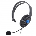 Gaming Headset Headphones w/ Microphone / Voice Control for PS4 - Black + Blue (3.5mm Plug / 110cm)
