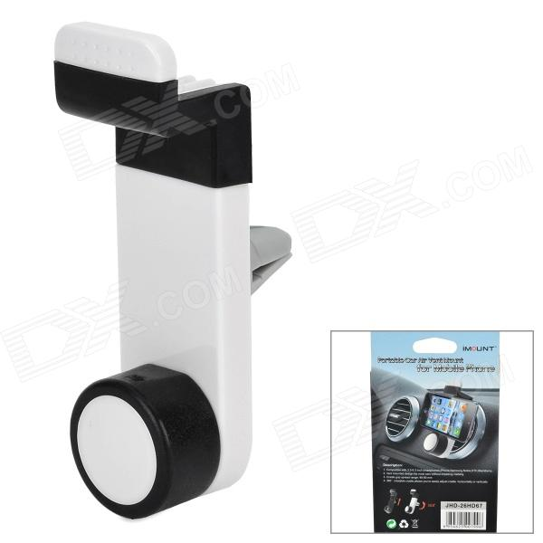 Car Air Vent Mount Holder for Cell Phone / Navigator - White + Black universal nylon cell phone holster blue black size l