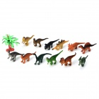 T3084KL 12 Dinosaur Species Plastic Toy - Multicolored