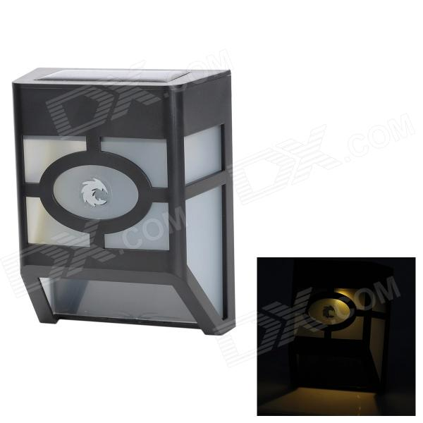 Outdoor 75lm 0.4W Waterproof 2-White LED Solar Wall Light - Preto