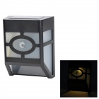 Outdoor Waterproof 0.4W 75lm 2-LED White Solar Wall Light - Black