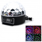 MXS-011 18W 8-pattern Colorful RGB LED Stage Light - White + Black