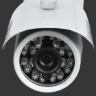 "YanSe YS-F276CD Waterproof 1/4"" CMOS 800TVL CCTV Camera w/ 24-LED Night Vision / IR-Cut - White"