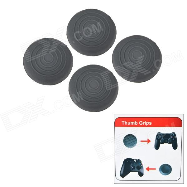 Silicone Protective Thumb Grips Covers for PS4 & XBOX ONE Controller - Grey (4PCS)