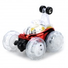5005 Fatastic 2-CH Tipper Hopper Stunt Car Toy w/ LED Light - Red + Black + Transparent