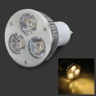 GU10 6W 250lm 3-LED Warm White Spotlight Bulb - White + Silver (85~265V)
