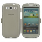 Protective Filip-Open Silicone Case for Samsung Galaxy S3 i9300 - Translucent Black