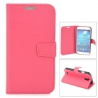 Protective PU Leather Case for Samsung Galaxy S4 i9500 - Deep Pink
