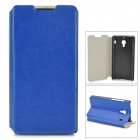 Protective PU Leather + ABS Case w/ Card Holder Slots for Xiaomi Hongmi Red Rice - Dark Blue