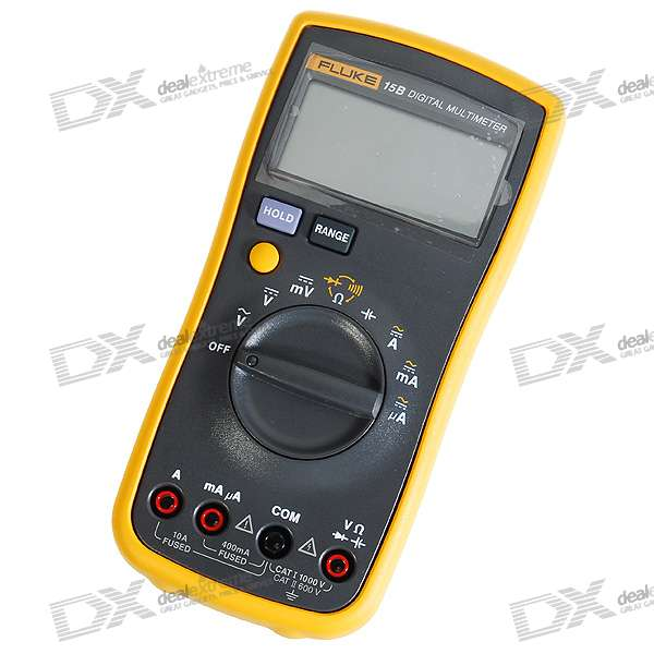 "Fluke 15B 2.6"" LCD Digital Multimeter Meter (2*AA included)"