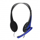 Feinier PE-136 Stylish Headphones w/ Microphone - Black + Blue (3.5mm Plug / 1.9m)