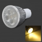 JRLED GU10 5W 400LM 3300K Warm White Dimmer Spotlight - White + Silver (220V)