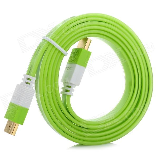 HDMI V1.4 Male to HDMI Male Connection Cable - Grass Green + White (150cm) repairing abs water pipe connector adapter grass green
