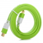 HDMI V1.4 Male to HDMI Male Connection Cable - Grass Green + White (150cm)