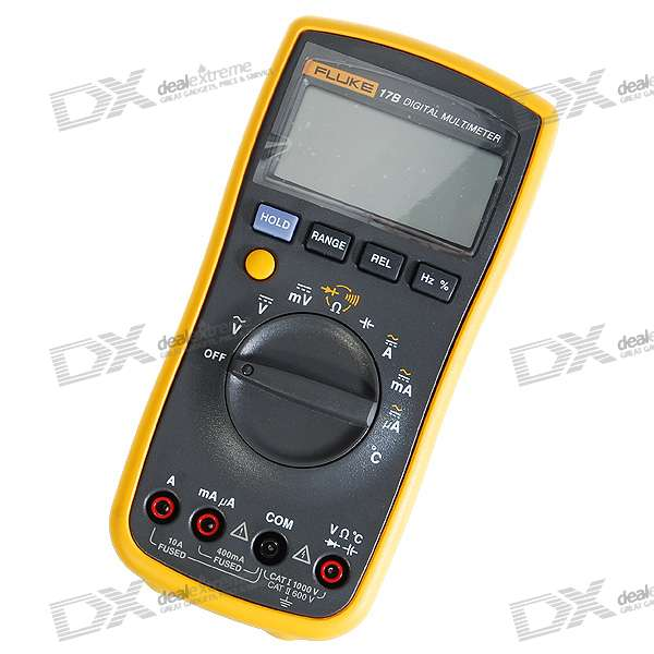 "Fluke 17B 2.6"" LCD Digital Multimeter Meter (2*AA included)"
