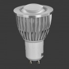 JRLED GU10 5W 350lm 3300K Warm Spotlight COB Blanco (AC 85 ~ 265V)